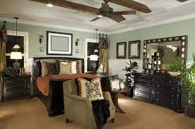 bedrooms with dark furniture