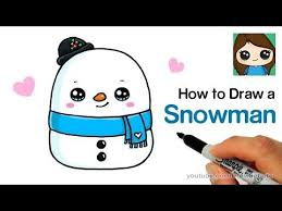 Learn how to draw this cute christmas holiday snowman super easy, step by step. How To Draw A Snowman Easy Squishmallows Youtube Cute Drawings Cute Little Drawings Draw A Snowman