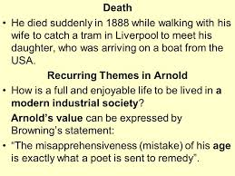 matthew arnold the bridge between r ticism and modernism  recurring themes in arnold