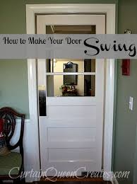 swinging kitchen door. How To Make Your Door Swing! - I Had A Plan All Along For The Antique Restored, And It Included Making Swinging From Our Kitchen Into S