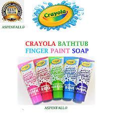 new label kids crayola bathtub fingerpaint set soap 5 s