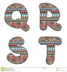 Q, R, S, T decor letters