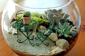 terrarium furniture. terrarium with miniature furniture l