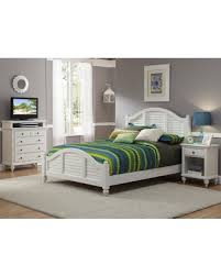 Home Styles Home Styles Bermuda Queen Low Profile Bed - White from Hayneedle   Martha Stewart