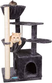 Hey-brother <b>Cat Tree with Sisal</b> Posts and Scratching Board Cat ...