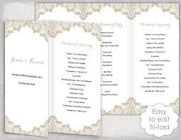 Free Microsoft Word Wedding Program Template Free Tri Fold Wedding Program Templates For Microsoft Word