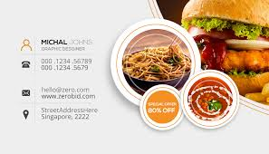 Food Business Card Template Psd Restaurant Amazing Cards Templates