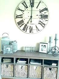 oversized white shiplap wall clock black big kitchen clocks large w