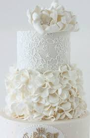 All White Wedding Cakes The Knot A Wedding Cake Company