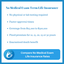 Term Life Insurance Quotes No Medical Exam Cool Top No Medical Exam Life Insurance Quotes Compare Apply Online