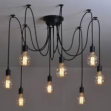 industrial pendant lights tremendous 10 edison retro spider light 110 220v e27 interior design 20