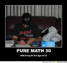 PURE MATH 30... - Meme Generator Posterizer via Relatably.com