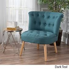 donna mid century fusion dark teal on tufted fabric chair