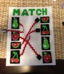 cute matching page for quiet books great idea for matching in a quiet