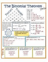 Binomial Theorem Vizual Notes Binomial Theorem Triangle
