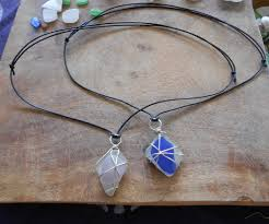 view in gallery wire wrapped buffed stone pendants