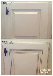 how to make glazed white kitchen cabinets
