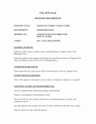 Municipal Clerk Sample Resume Clinical Nurse Practitioner Sample Resume Simple Deputy Clerk Best 6
