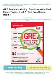Analytical Essay Topics Pdf Gre Analytical Writing Solutions To The Real Essay