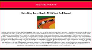 Access Sattamatkatrick Com Satta King Chart 2019 Satta