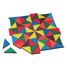 Pattern Blocks Cool Wooden Pattern Blocks Mosaic Tiles Educational Toys