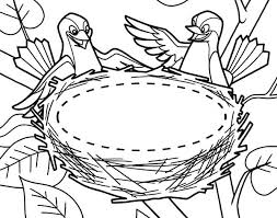 Small Picture Bird Couple and Their New Bird Nest Coloring Pages Best Place to