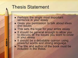 writing a multi paragraph essay ppt video online  thesis statement perhaps the single most important sentence in your essay gives you permission to