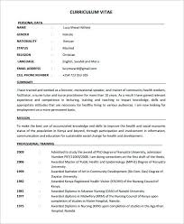 Nurse Resume Template Free Impressive Gallery Of Sample Nursing 28 Documents In Word Nurse Resume Sample