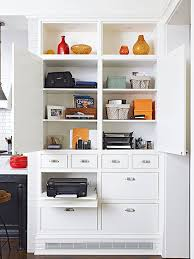 home office in a cupboard. House Tour: Family-Friendly Wood-Frame Renovation. Built In Cupboards Living RoomHome Office Home A Cupboard