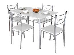 Ensemble Table Rectangulaire 4 Chaises Tuti Coloris Blancgris