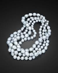 four baroque south sea pearl necklaces