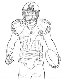 Antonio Brown Coloring Page Free Printable Coloring Pages