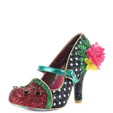 Irregular Choice Shoe Size Chart Details About Womens Irregular Choice Crimson Sweet Black Green High Heel Shoes Shu Size