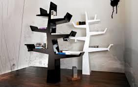 Decorations:Wood Tree Bookshelf Design Inspiration In White Themed Living  Room Beautiful Creative Bookshelf Design