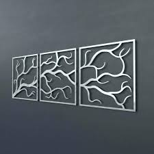 3 piece metal wall art metal branch wall decor 3 piece metal tree branch wall art on large metal tree wall sculpture with 3 piece metal wall art metal branch wall decor 3 piece metal tree