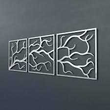 3 piece metal wall art metal branch wall decor 3 piece metal tree branch wall art
