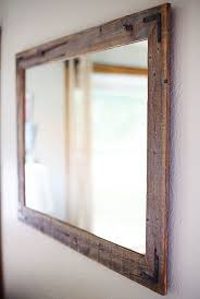 mirror large. 42x30 reclaimed wood mirror - large wall rustic modern home decor w