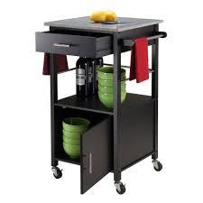 Kitchen Cart Granite Top Winsome Davenport Kitchen Cart With Granite Top Reviews Wayfair