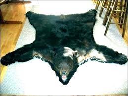 fake white bear skin rug faux with head