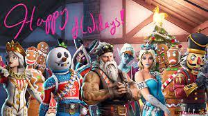 All Christmas Skins Fortnite Wallpaper