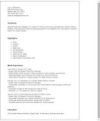 Production Manager Resumes 1 Apparel Production Manager Resume Templates Try Them Now