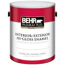behr exterior paint home depot. Simple Paint BEHR Premium Plus 1 Gal Ultra Pure White HiGloss Enamel InteriorExterior On Behr Exterior Paint Home Depot A