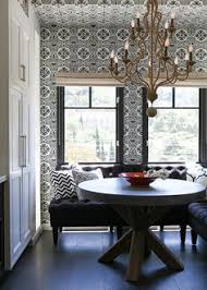 friday s favourites black and white dining room wallpapere