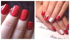 červená Manikúra S Designem Foto T