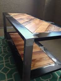 industrial metal and wood furniture. Industrial Rustic Coffee Table, Reclaimed From Salvaged Wood And Metal On Etsy, $299.00 Furniture