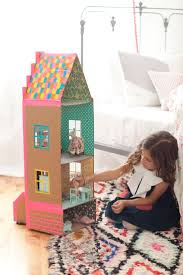 DIY doll house out of cardboard and duct tape by Merrilee Liddiard