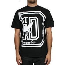 Rogue Status Dta Big D Mens T Shirt In Black White