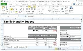 Excel Personal Budget Template Fresh Bud Free Maths Best Household ...