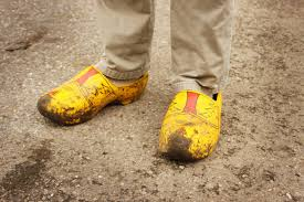 wooden shoes holland yellow free picture
