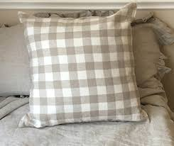 euro sham covers.  Covers A Pair Of Check Plaid Euro Sham Covers Linen Pillow Accented  Covers Inside Covers K